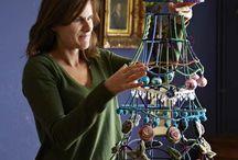 kerstboom alternatief / hoe kan je zelf een kerstboom/sfeer maken met spullen die je al in huis hebt