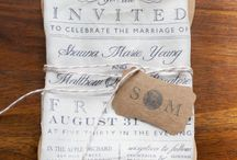 Wedding invitation - Fabric