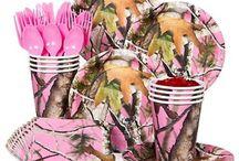 Camo Girls Party, pink brown cream green / by Spiral Sage