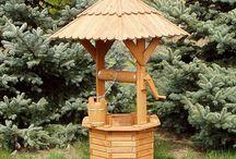 Dekoračné drevené studne