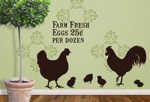 chicken, rooster,hen