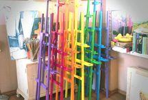 Colored Mood / Workshop, school, atelier, studio of drawing