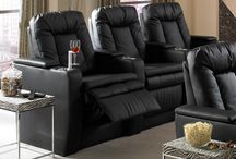 Home Theater Accessories / From electonics to fine wine and cigars, 4Seating has you covered. We didn't leave out room for your larger devices, magazines, or that tub of popcorn with the swivel tray tables for any compatible home theater seat. Don't forget about support, because Seatcraft didn't! The Seatcraft Neck Pillow, which easily drapes over the backrest of any home theater seat, has you covered for that extended head and neck support. When it comes to theater seat accessories, 4Seating is the leader.