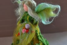 Pin felting