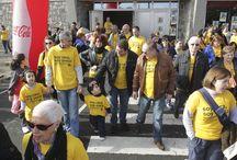 Caminata solidaria en A Coruña el 22 de febrero / Fotos de la caminata solidaria que tuvo lugar el pasado 22 de febrero a favor de las enfermedades raras.