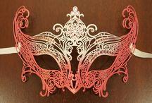 Masquerade party masks / A collection of masks for a masquerade party
