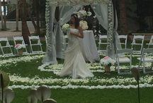 Halekulani wedding / ハレクラ二でのガゼボフラワー レセプションフラワー など