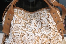 Lace & Leather Purse / Beautiful Lace on Leather Bags!