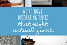 HOME DECORATING TRICKS / Interesting Home decor ideas