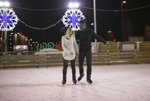 Engagement session on ice
