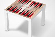 Spieltische | creatisto / Auf creatisto.com gibt's jetzt exklusive Spieltischfolien! Die Designs sind auf deinen (IKEA-) Tisch zugeschnitten und werden bedruckt mit den Spielfeldern der Klassiker: Schach, Backgammon, Mühle, Mensch Ärgere Dich Nicht, dem Leiternspiel, ... Schaut selbst!