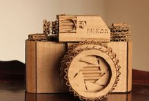 Cardboard and paper hand made ideas