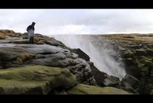 High Winds Blow Waterfall Back Up