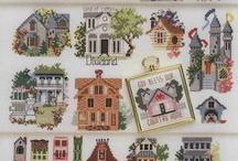 Cross Stitch - Houses