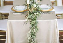 Grecian wedding table runner