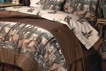 Rustic Whitetail Deer Bedding and Matching Curtains
