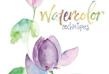 Watercolor Techniques / Videos, Tips and Ideas
