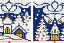 karácsonyi keresztszemes minták