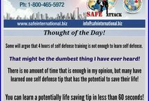 "Self Defense ""Thought of the Day"" / On this board I offer some of my thoughts on self defense!"