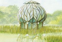 Solarpunk structures and systems