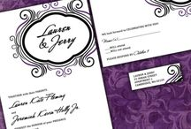Modern purple and black wedding / Modern purple and black wedding invitations flourish New Orleans