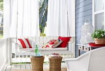 covered porch furnishings