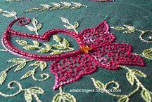 Вышивка с бисером