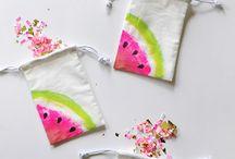 Wassermelonen Dekoration / Deko-Ideen, Party-Motto, Kindergeburtstag,Sommerparty-Thema, Tischdekoration, Candy-Bar, Melonen DIY, Party-Einladungen, Girlanden