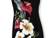 vestidos pintados a mano