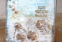 Inspiration,altered,journal cards / Mixed media cards / by Janet Rose