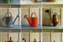 Vintage Watering Cans ~