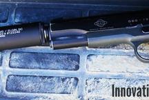 APEX .22 series of silencers / Apex .22lr Apex Micro .22lr  Apex-S .22 multi (stainless steel) .22lr, .17hmr, 22mag, 5.7x28 www.innovativearms.com / info@innovativearms.com