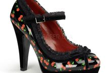 Cherries shoes, sexy shoes with cherry prints / Cherry print shoes - sexy shoes with cherry print