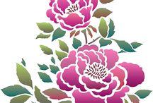 China Rose Stencil