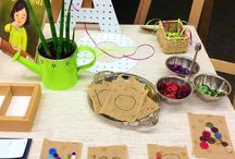 Reggio inspired Investigations tables