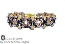 Stella, beadweaving bracelet with seed beads and the newest NIB-BIT beads,
