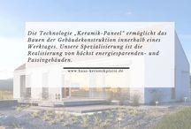"""Die Technolgie Keramikplatte Informationen / Die Technologie """"Keramikplatte"""" wird besonders Produzenten von Skeletthäusern, Bauträgern und individuellen Investoren angeboten. Mit unserem Produkt ist es möglich ein Skeletthaus mit den Eigenschaften der Keramiktechnologie zu besitzen und seine Komfortzone zu erweitern (!)"""