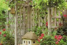 Garden Structures / Great collection of structures found in gardens or backyards including sheds, barns, chicken coops, bunny barns, playhouses and more.