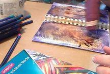 Derwent Inktense Works / Amazing Pieces of Art Create using Derwent Inktense Pencils