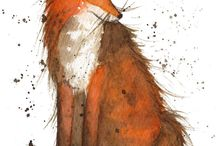 Foxes / by Michelle Campbell Art