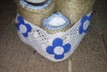 Lucruri handmade făcute cu ață de iută