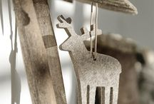 XMAS in grey / Weihnachten und Dekoration aus Wollfilz  passen wunderbar zusammen.