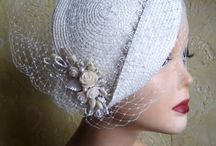 Wedding Couture Hats and Headdress Alina Yo / Beautiful bridal hairpiece #floral #lace #hairpiece