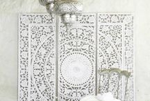 Moroccan white bedroom