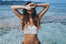 Bikinis.