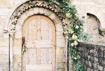 Floral installations, doorways, arches etc