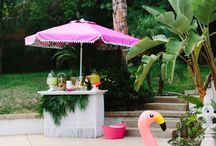 Aloha! / All things for a tropical celebration/party! Tiki bar inspiration.