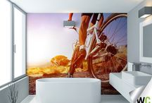 Living an active life! / Wall mural ideas for the home - especially for those that live an active life!