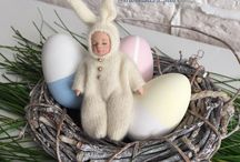 Moonsters Happy Easter / Easter, made in Russia, masterpiece, handmade