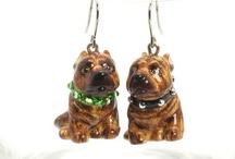 Earrings American Pit Bull Terrier  / by madamepOmm BYK